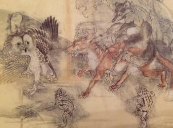 梟と狸の行列.jpg